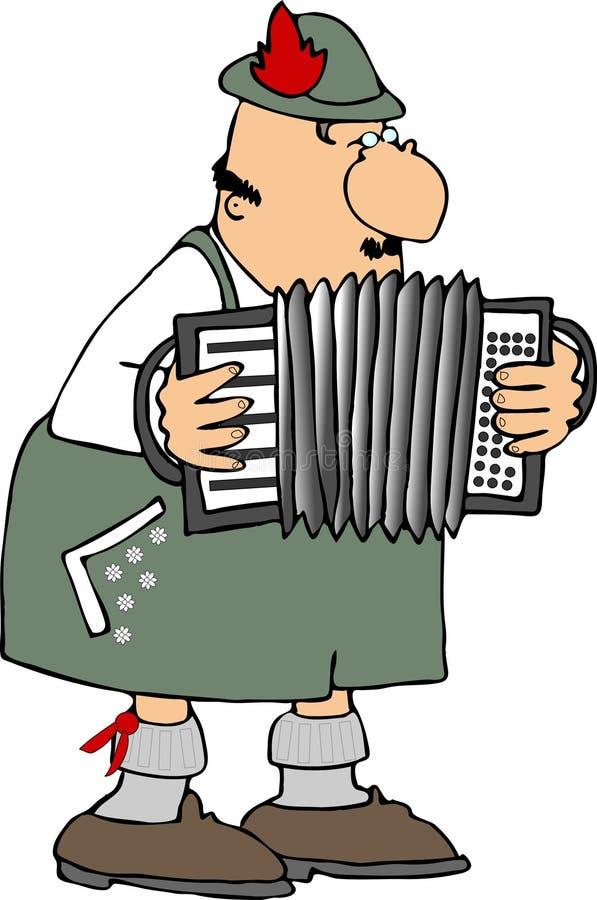Jugador alemán del acordión ilustración del vector