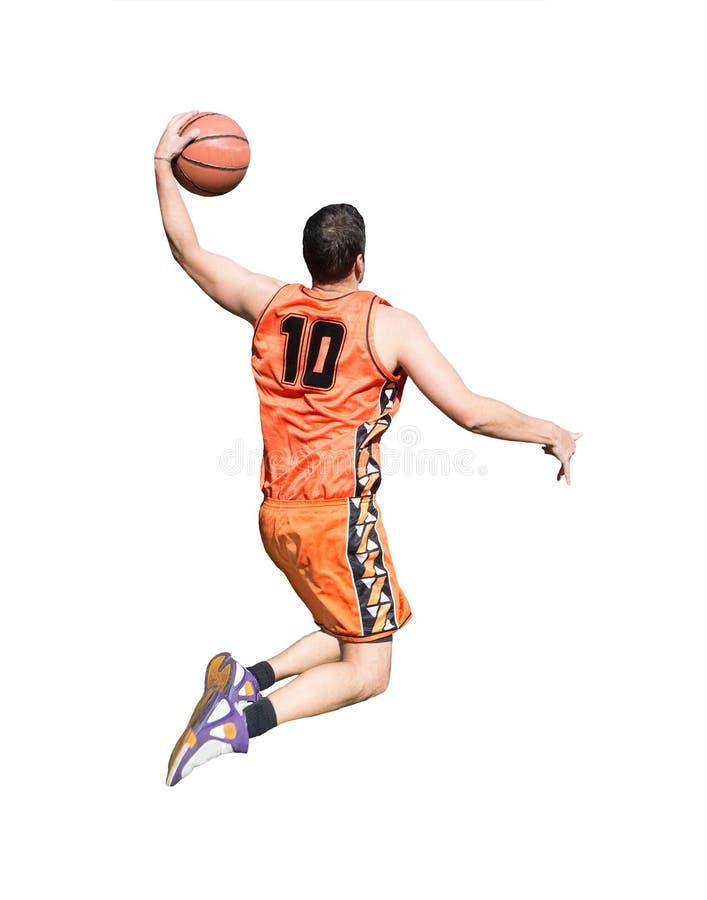 Jugador anaranjado en blanco fotos de archivo libres de regalías