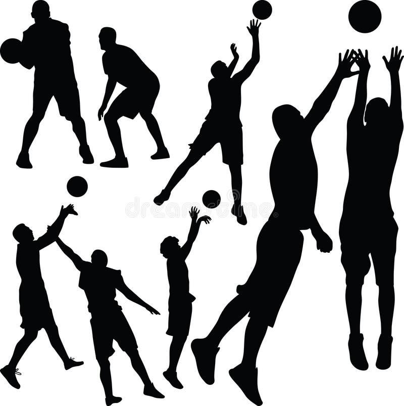 Jugador de básquet stock de ilustración