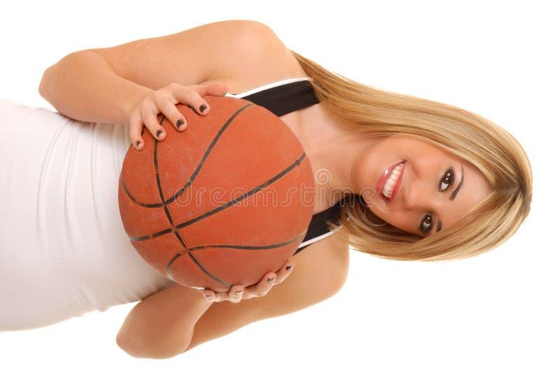 Jugador de básquet de la muchacha fotos de archivo
