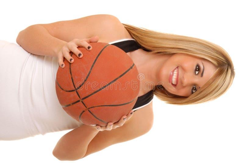 Jugador de básquet de la muchacha foto de archivo