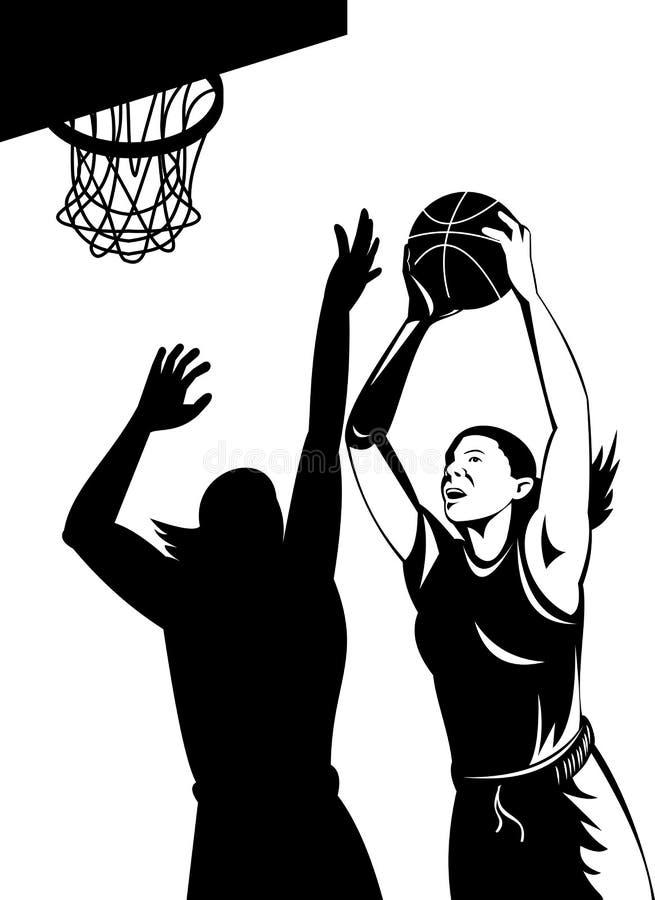 Jugador de básquet de la mujer ilustración del vector
