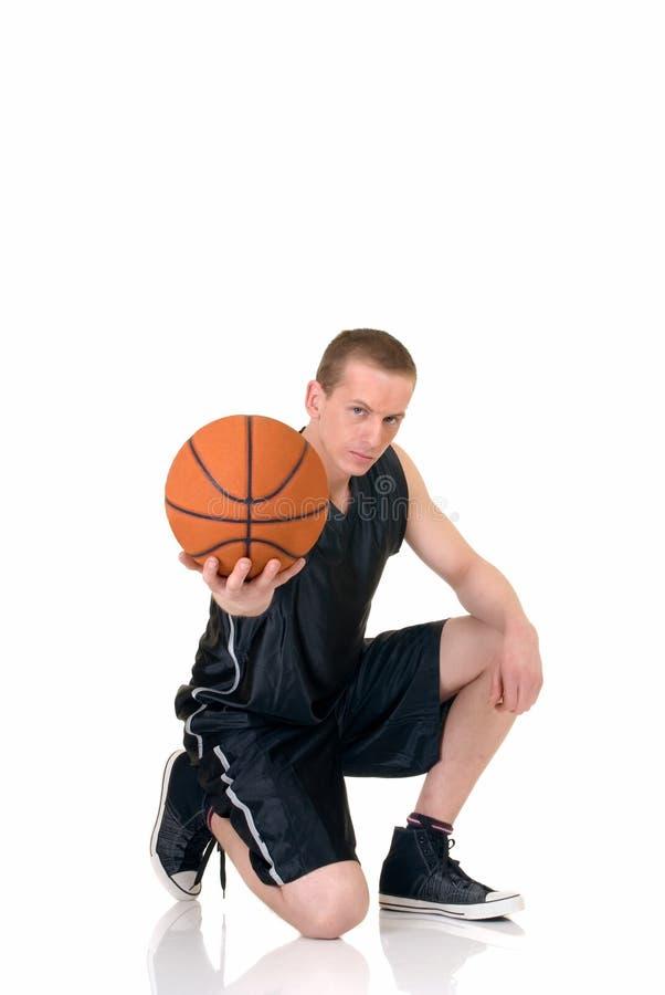 Jugador de básquet de sexo masculino joven fotos de archivo libres de regalías