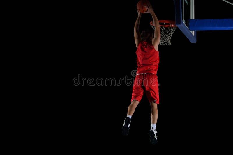 Jugador de básquet en la acción fotos de archivo