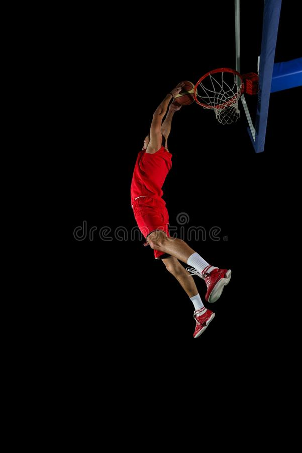 Jugador de básquet en la acción imágenes de archivo libres de regalías