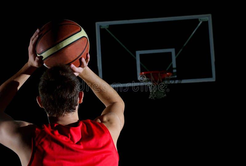 Jugador de básquet en la acción foto de archivo libre de regalías