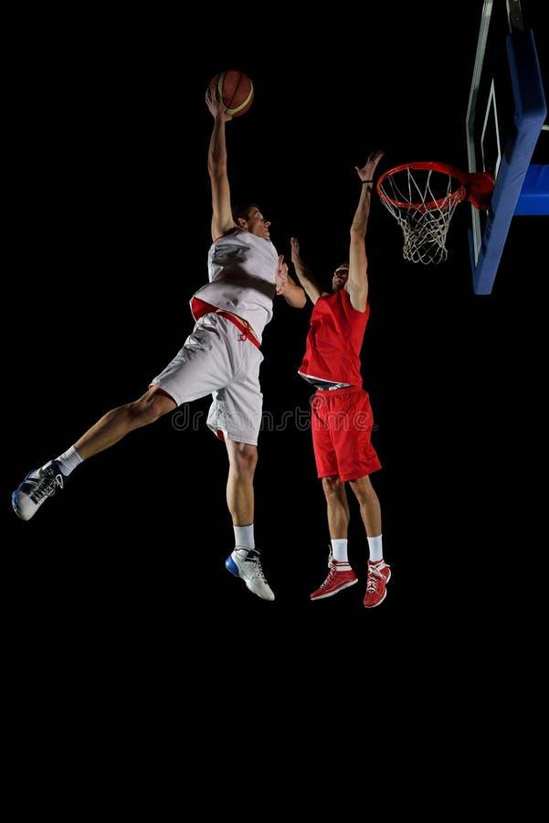 Jugador de básquet en la acción fotografía de archivo libre de regalías