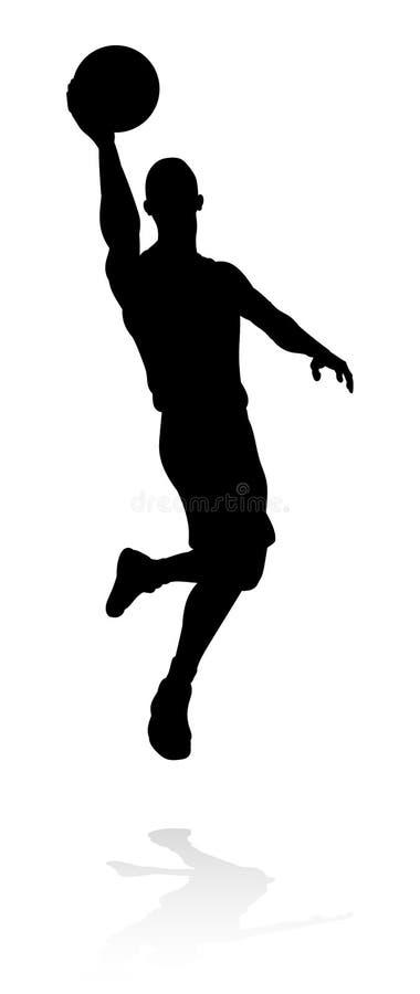 Jugador de básquet de la silueta libre illustration
