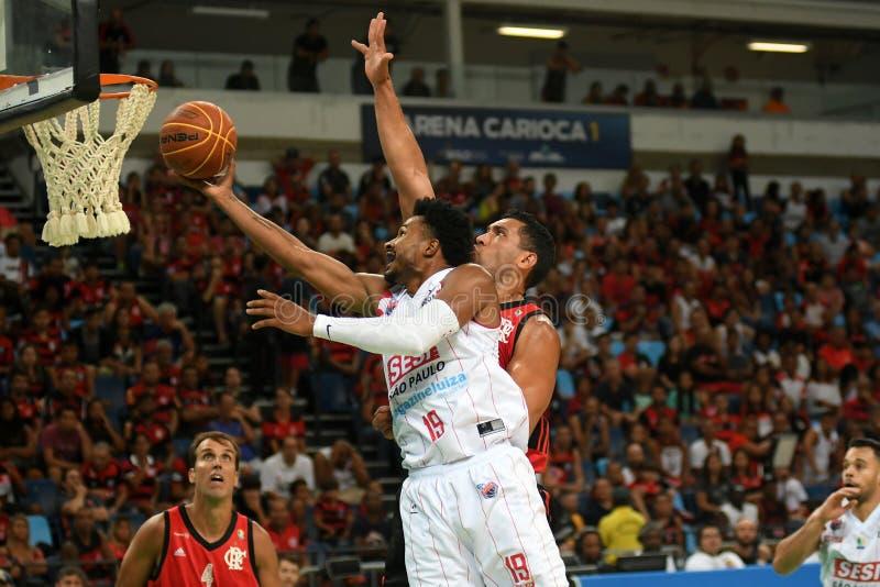 Jugador de básquet Leandrinho imágenes de archivo libres de regalías