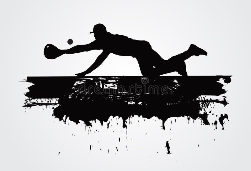 Jugador de béisbol stock de ilustración