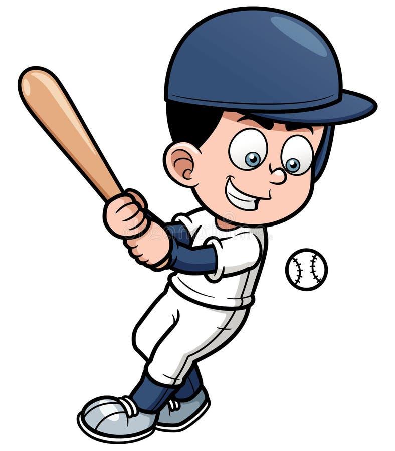 Jugador de béisbol de la historieta libre illustration