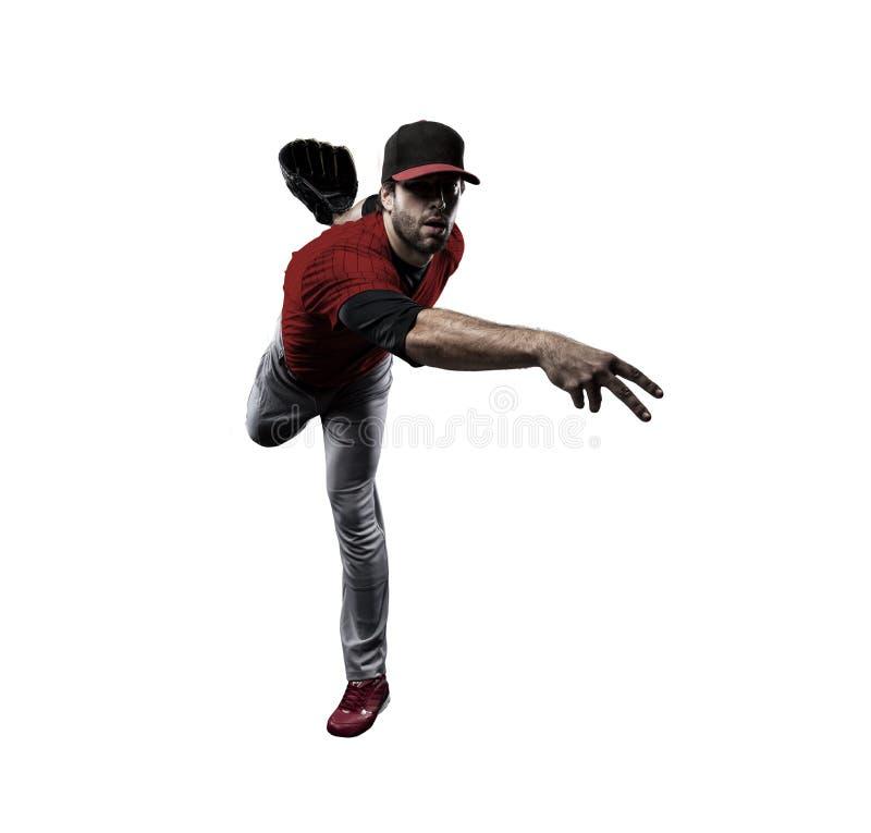 Jugador de béisbol de la jarra imagen de archivo libre de regalías