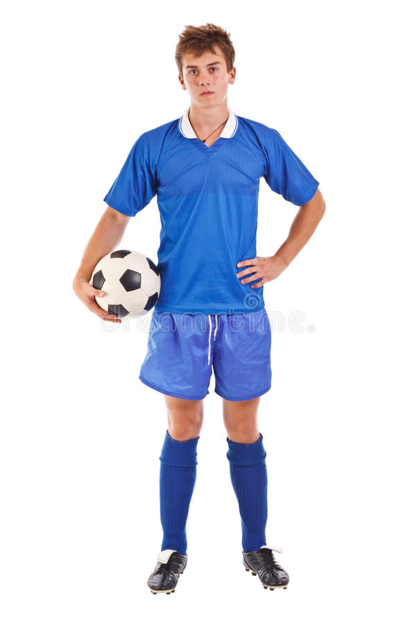 Jugador de fútbol fotos de archivo