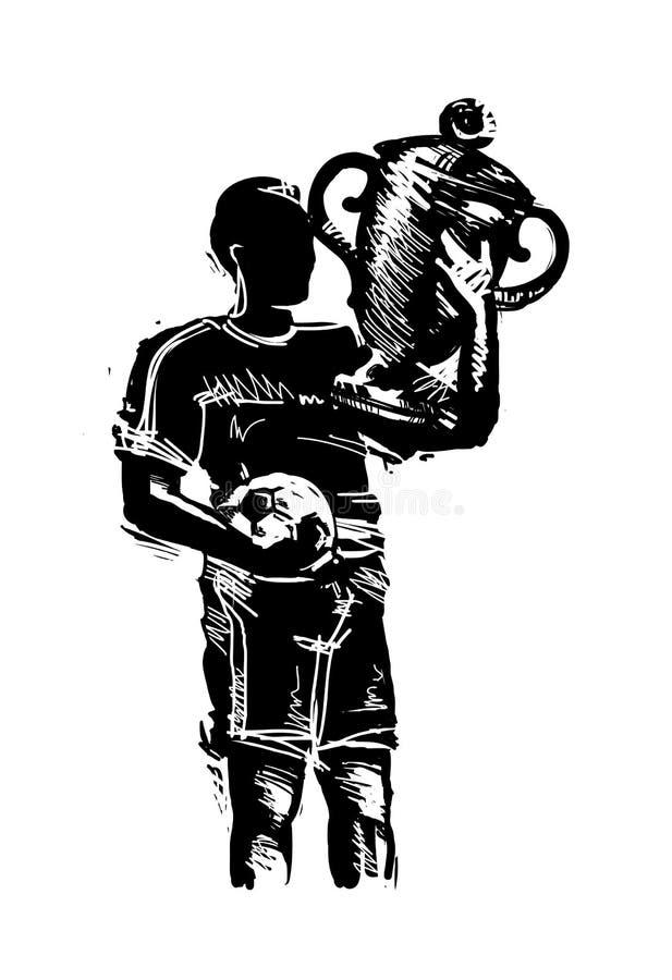 Jugador de fútbol ilustración del vector