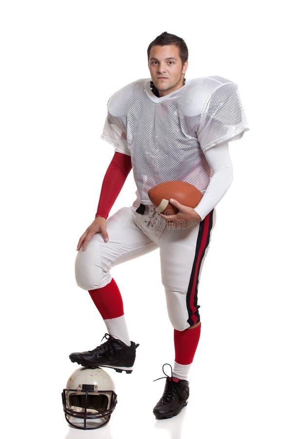 Jugador de fútbol americano. imagen de archivo libre de regalías