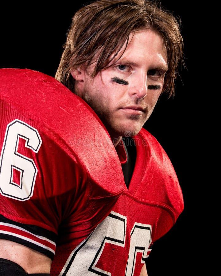 Jugador de fútbol americano fotografía de archivo