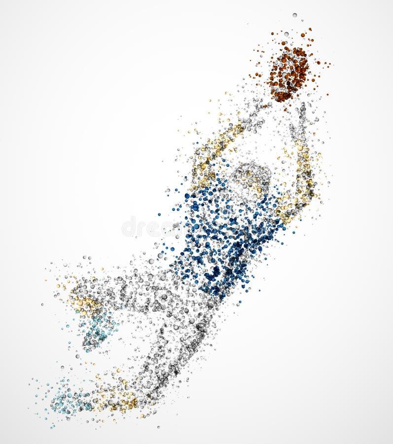 Jugador de fútbol americano abstracto stock de ilustración