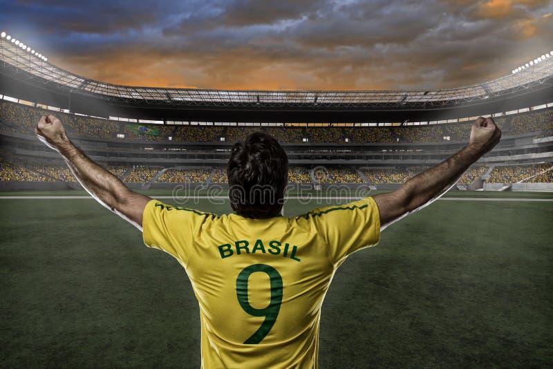 Jugador de fútbol brasileño imagen de archivo