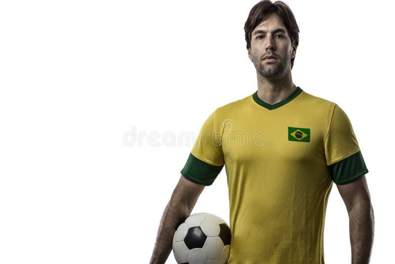 Jugador de fútbol brasileño imagenes de archivo