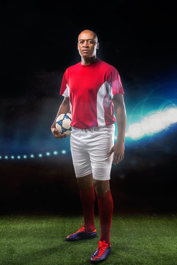 Jugador de fútbol brasileño imagen de archivo libre de regalías