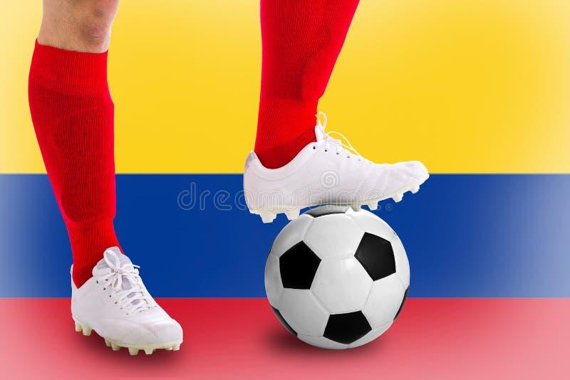 Jugador de fútbol de Colombia foto de archivo