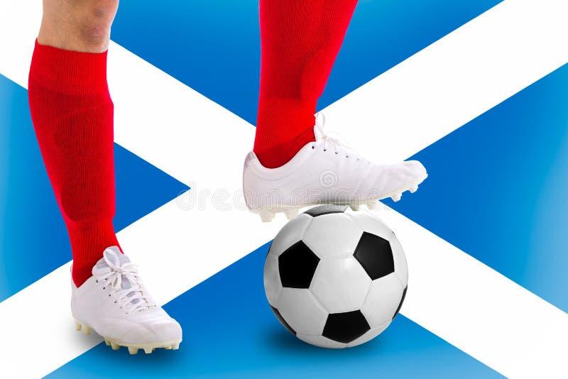 Jugador de fútbol de Escocia fotos de archivo libres de regalías