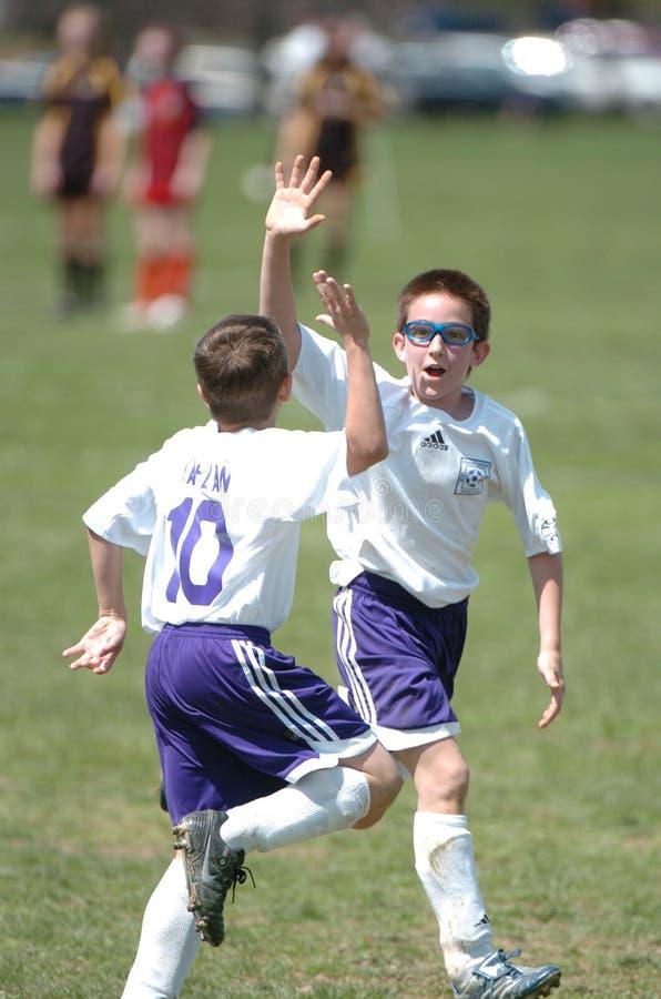 Jugador de fútbol de la juventud imagen de archivo libre de regalías