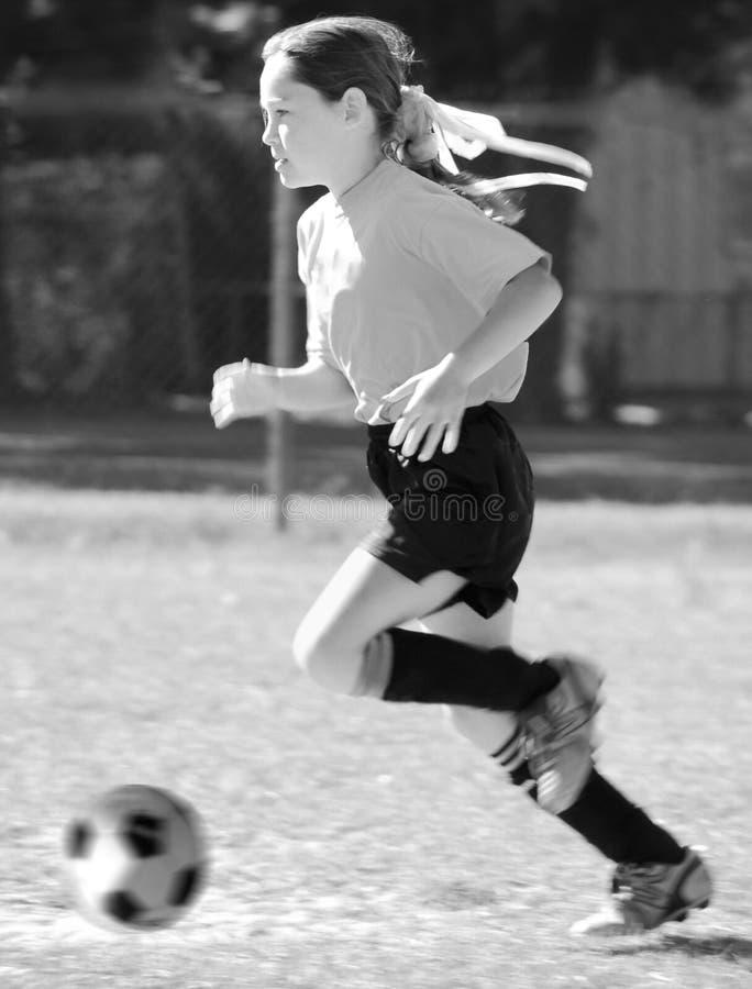 Jugador de fútbol de la muchacha imagen de archivo