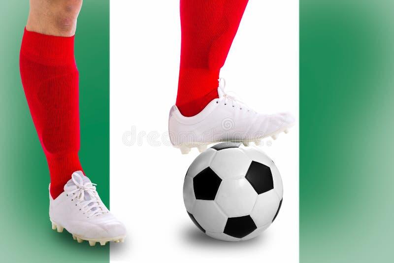 Jugador de fútbol de Nigeria foto de archivo