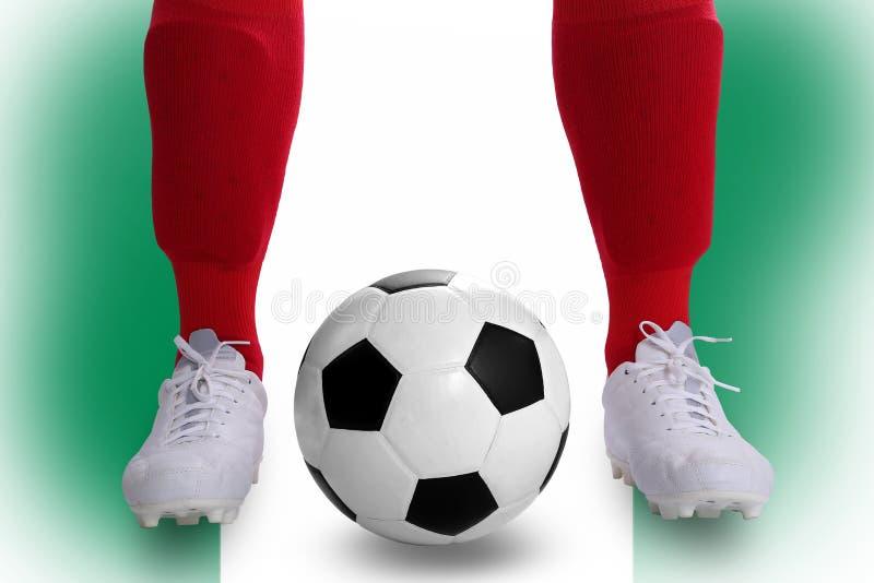Jugador de fútbol de Nigeria ilustración del vector