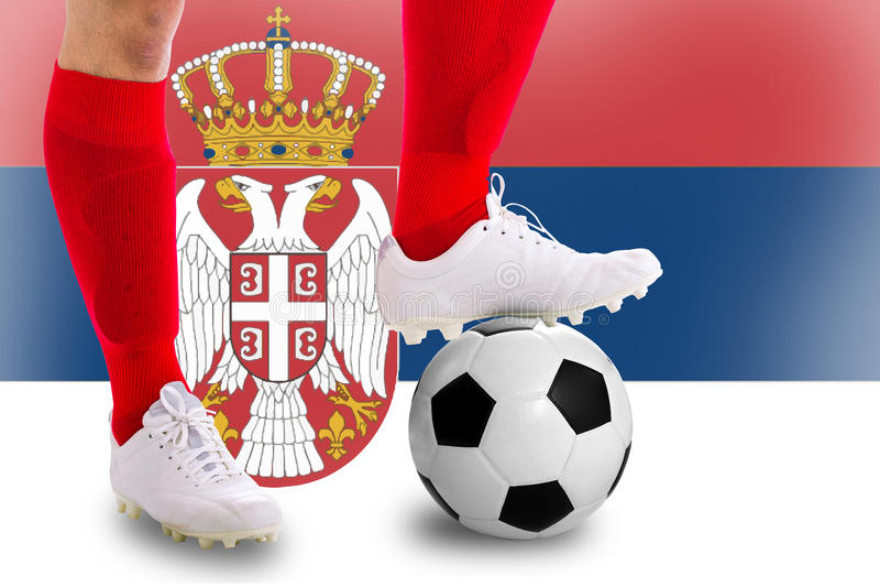 Jugador de fútbol de Serbia fotografía de archivo