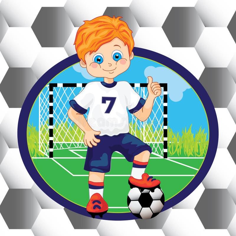 Jugador de fútbol del muchacho stock de ilustración
