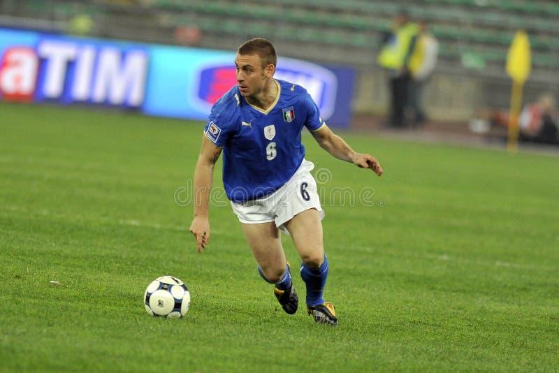 Jugador de fútbol italiano imagen de archivo