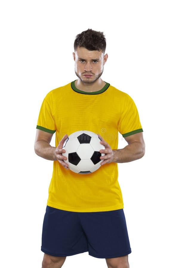 Jugador de fútbol joven foto de archivo