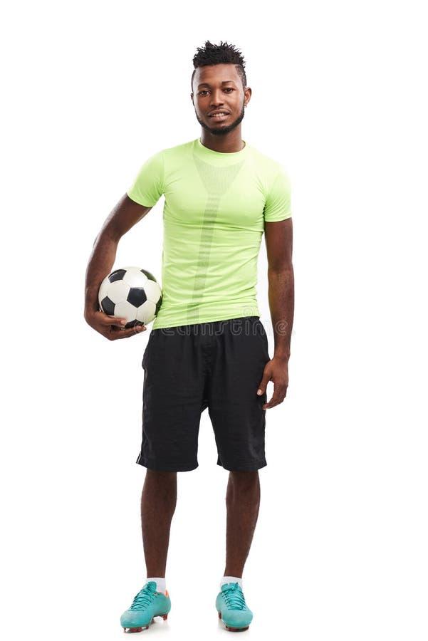 Jugador de fútbol nigeriano hermoso fotografía de archivo