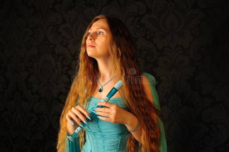 Jugador de flauta fotos de archivo