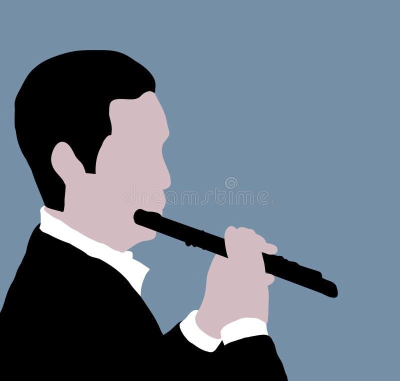 Jugador de flauta stock de ilustración