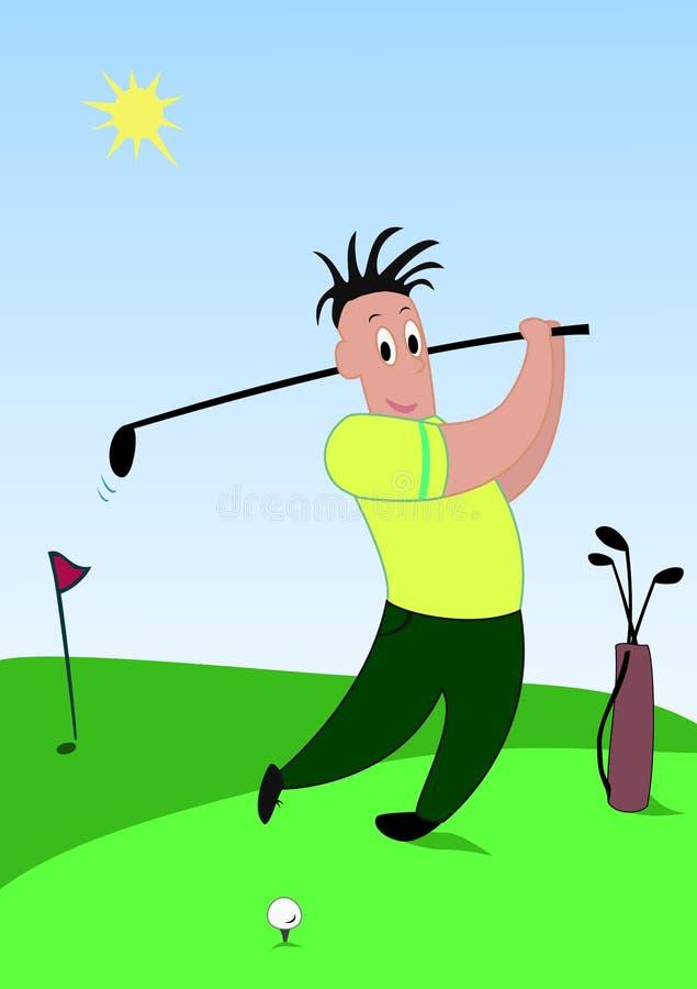 Jugador de golf ilustración del vector