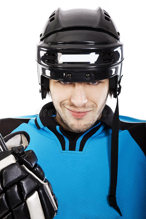 Jugador de hockey foto de archivo libre de regalías