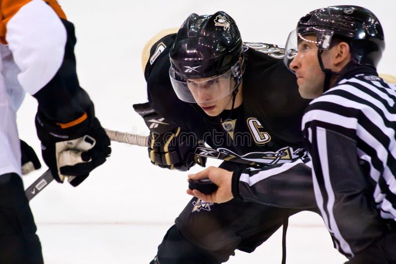Jugador de hockey del NHL de Sidney Crosby foto de archivo libre de regalías