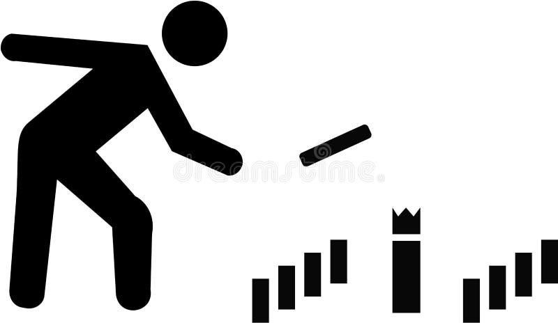 Jugador de Kubb stock de ilustración