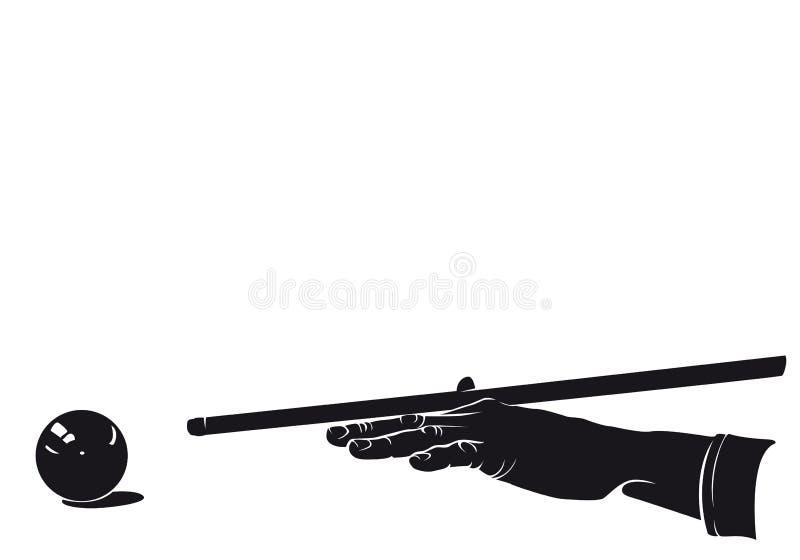 Jugador de la mano de los billares libre illustration