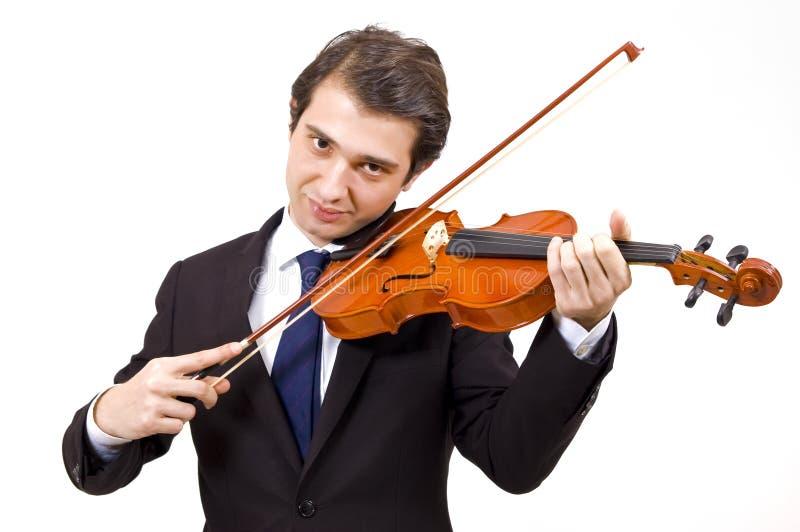 Jugador de los jóvenes del violín fotos de archivo libres de regalías