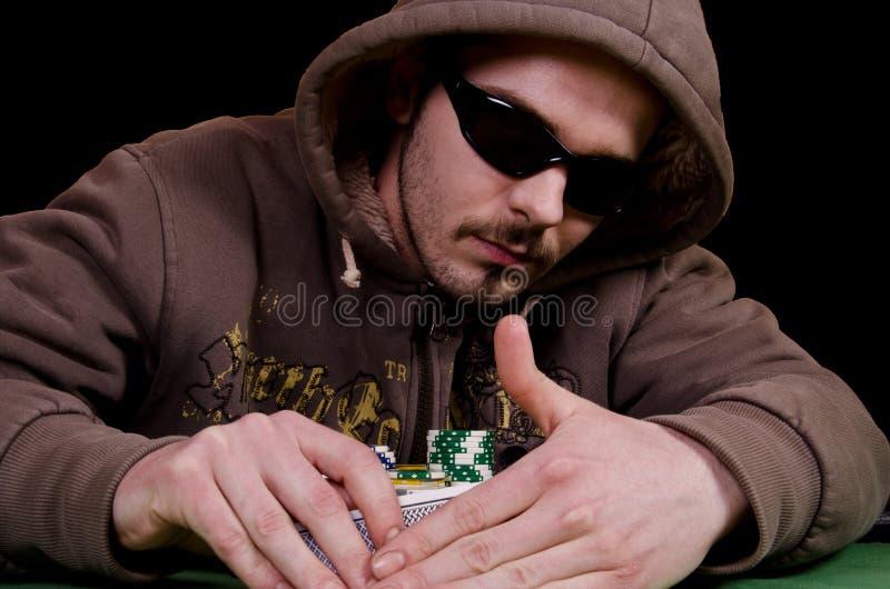 Jugador de póker imagen de archivo libre de regalías