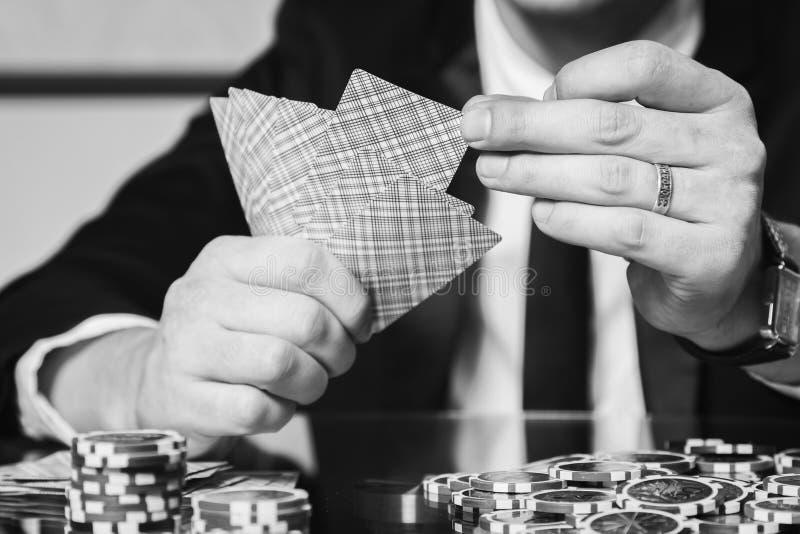 Jugador de póker foto de archivo