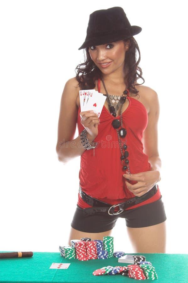 Jugador de póker atractivo imágenes de archivo libres de regalías