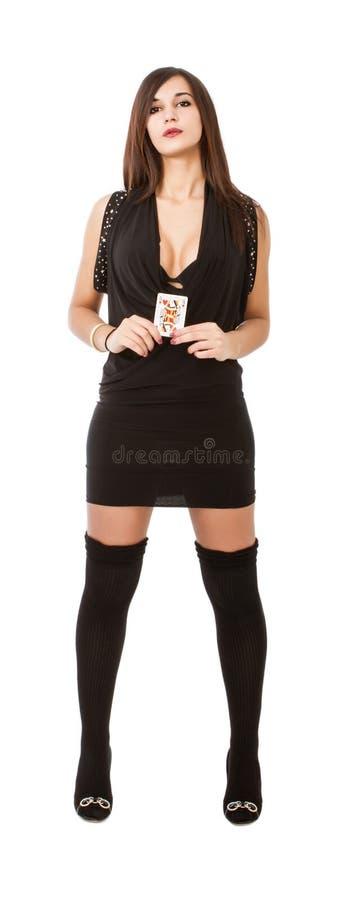 Jugador de póker atractivo fotografía de archivo libre de regalías
