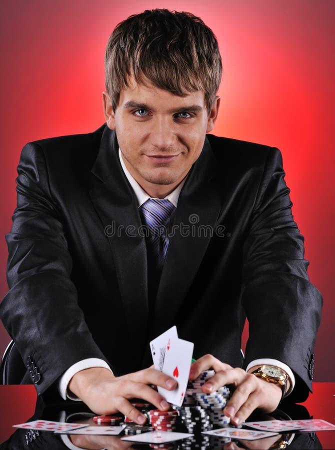 Jugador de póker hermoso foto de archivo libre de regalías