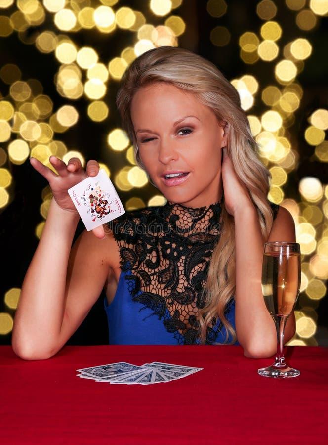 Jugador de póker hermoso fotos de archivo