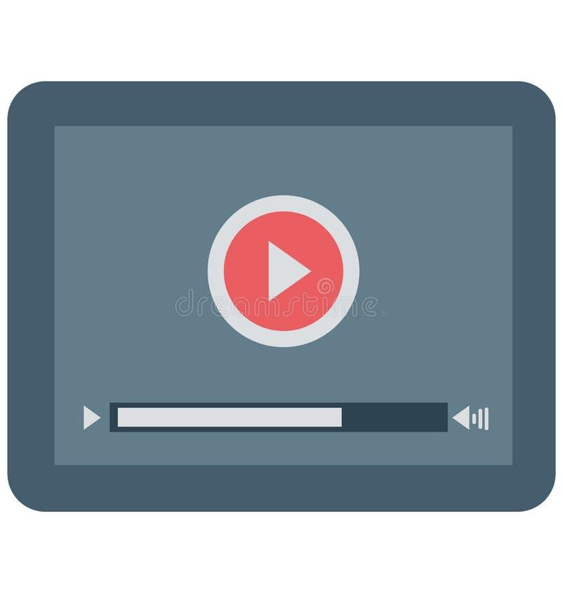 Jugador de película, icono aislado del vector del vídeo stock de ilustración